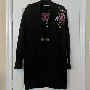 SOFT SURROUNDINGS Embroidered Duster Cardigan